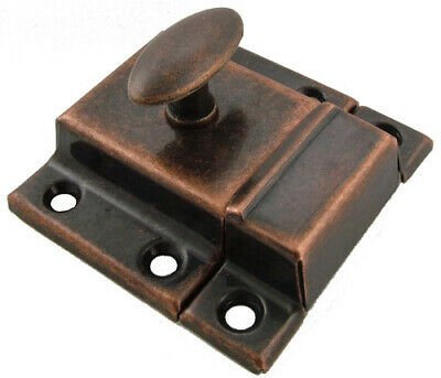Vintage Style Cabinet Latch with Antique Copper Finish