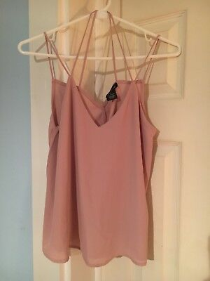 Wet Seal mauve dusty pink Tank Top swing top Size Sm NWT pretty