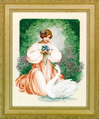 Lavender - Lace - LL45 - Lady Claire Counted Cross Stitch Pattern