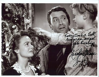 ZUZU  autographed 8x10  photo from the Movie Its a Wonderful Life Great saying