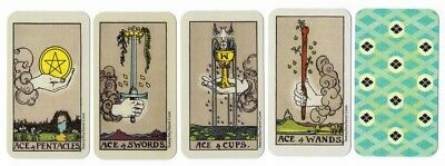 TeenyTinyTarot © PREMIUM Tarot ACES Waite-Smith style MeditationContemplation
