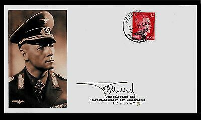 Erwin Rommel Collectors Envelope with genuine 1941 Hitler Postage Stamp A587