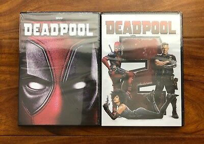 Deadpool 1 and Deadpool 2 Brand New 2-DVD Set Free Shipping