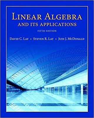 Linear Algebra and Its Applications 5th Edition PDF Version Instant Delivery