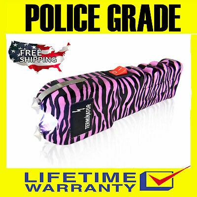 Police Stun Gun Maximum Power Rechargeable With Bright Flashlight