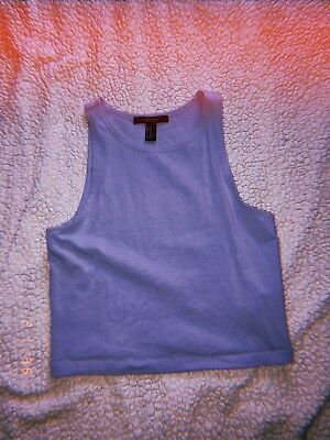 Forever 21 Baby Blue Crop top Medium