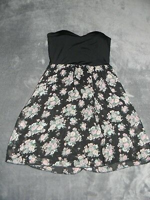 Wet Seal Strapless Tube Floral Dress Juniors Size M