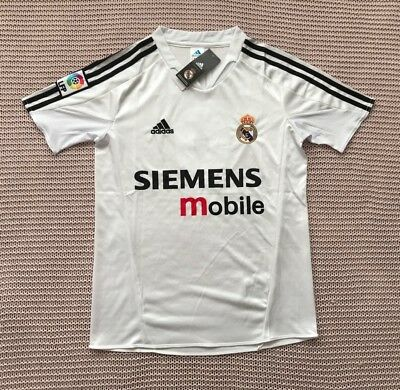 R- Carlos Real Madrid Soccer Team New Mens Home Retro Vintage Jersey - Size M