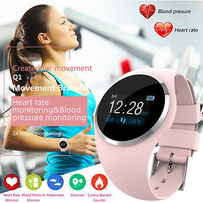 Women-Girl Waterproof Bluetooth Smart Watch Ladies Phone Mate For Android iPhone