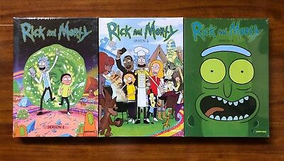 Rick and Morty Complete Series Seasons 1 2 and 3 Brand New Free Shipping