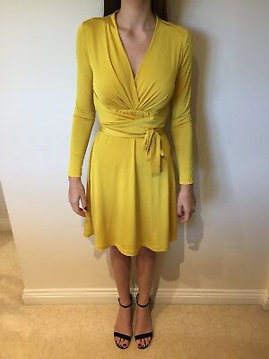 BNWT Size 10 Issa Gold Wrap Dress - Kate MIddletons Issa Engagement-