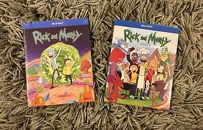 Rick and Morty Season 1 and 2 Blu-Ray Set BRAND NEW Free Shipping