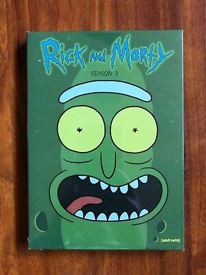 Rick and Morty Complete Season 3 DVD Brand New Free First Class Shipping