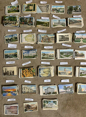 Lot of 50 Antique - Vintage Postcards1900s-1970s- All USA- Used And Unused