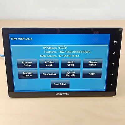 ✅Crestron TSW-1052-B Touch Screen 10-1 Touch Screen Black Smooth