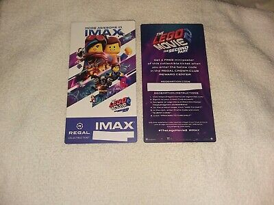 The Lego Movie 2 The Second Unit Collectible Regal IMAX Ticket  of 500 Free Shp