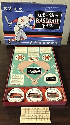 Vintage All Star Baseball Board Game Ethan Allen Dated 1921 w 40 Discs