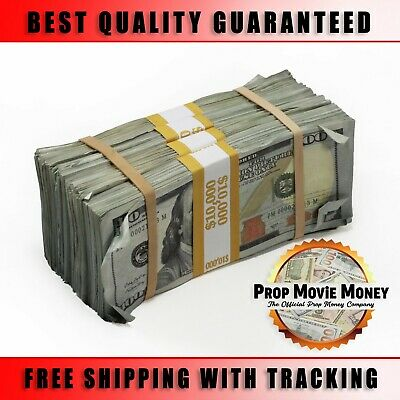 40000 - Prop Money BLANK FILLER Aged Fake Play Stacks for Movie - Music Videos