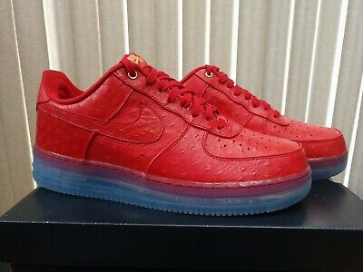 DS MENS NIKE AIR FORCE 1 COMFORT LUX LOW RED OSTRICH SIZE 12