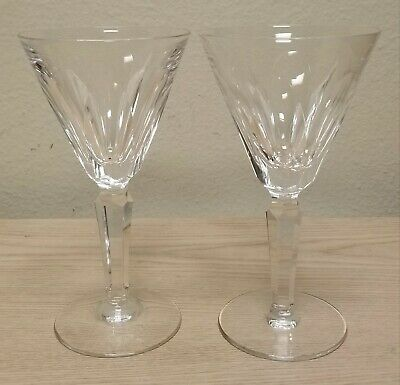 2 Waterford Crystal Sheila Cut 6 ½ White Wine Glasses Nice