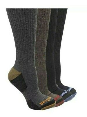 TIMBERLAND Mens 4 Pack Outdoor Leisure Crew Cushioned Stretch - Support Socks