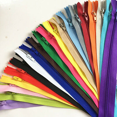 50-100pcs 35cm14InchNylon Coil Zippers Tailor Sewer Craft Crafters-FGDQRS mix