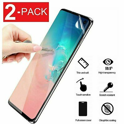 2-Pack Galaxy S8 S9 S10 Plus 10e 5G Note 8 9 Film Screen Protector Film Shield