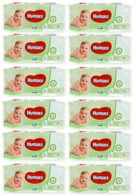 HUGGIES BABY WIPES NATURAL CARE 56ct 12 PACK