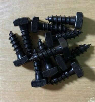 Lag Bolt Screws Square Head Black Oxide 14x34 LBBLK1434