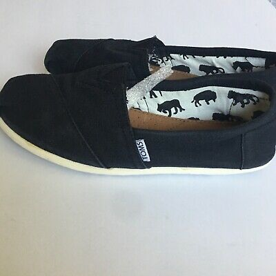 Toms Women's Shoes Slip Ons Black- Size 9