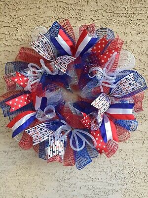 Patriotic Wreath 4th of July Wreath Summer Americana Memorial Day Labor Day USA