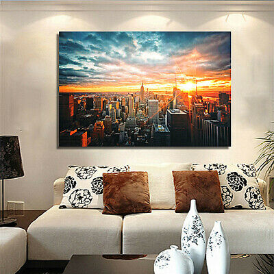 USA New York Painting Canvas Print City Night Poster Wall Art Gift Home Decor