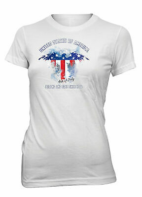 Hot4TShirts Fourth 4 of July Independence Day T-Shirt For Juniors
