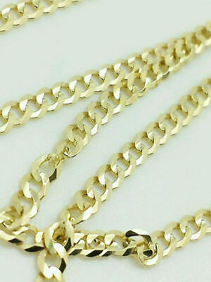 10K Yellow Gold Cuban Link Chain Necklace 16 18 20 22 24 26 30 Curb Chain