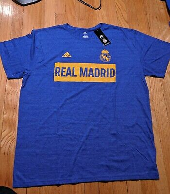 adidas Real Madrid Heathered Blue Bar None Tri-Blend T-Shirt