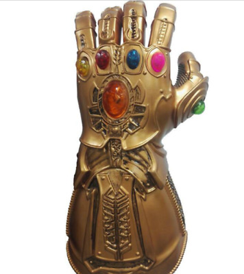 Thanos Infinity Gauntlet LED Light Gloves Cosplay Avengers Infinity War Prop