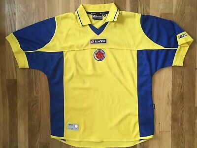 Vintage Men's Size Medium Lotto Columbia National Team World Cup Soccer Jersey