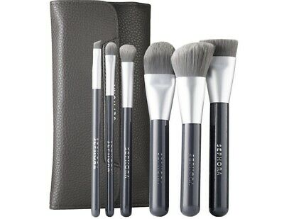 SEPHORA COLLECTION Deluxe Charcoal Antibacterial Brush Set 6