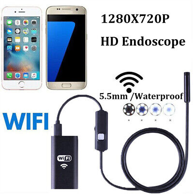 For iPhone Android iOS PC 5-5MM WiFi Borescope Endoscope Snake Inspection Camera