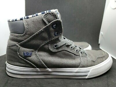 Supra Vaider Grey White Skater Shoes  08204-4034-M Men's Size 8-5 Men