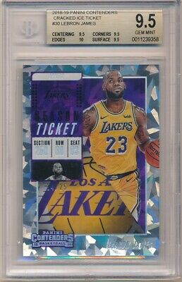 LEBRON JAMES 201819 PANINI CONTENDERS CRACKED ICE LAKERS 25 BGS 9-5 GEM MINT