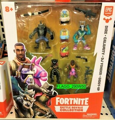 FORTNITE BATTLE ROYALE COLLECTION 4 Pack Dire DJ Vonder Giddy-Up Calamity NEW