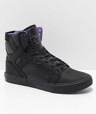 NEW MENS 11 SUPRA X DISNEY SKYTOP SNOW WHITE EVIL QUEEN BLACK SKATE SHOES