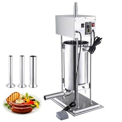 15L Electric Sausage Stuffer Vertical Stainless Steel Meat Filler Restaurant