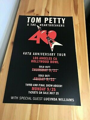 Tom Petty and the Heartbreakers 40th Anniversary Tour Concert Poster Final Show
