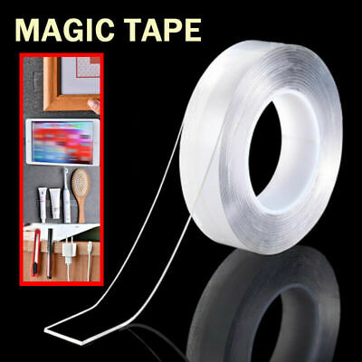 Magic Double-sided Tape Traceless Washable Adhesive Gel Nano Invisible Tape