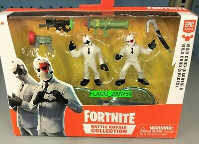 FORTNITE BATTLE ROYALE Wild Card Hearts - Spades FIGURE 2 PACK 2019
