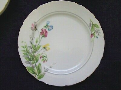 Aladdin Gardena Occupied Japan china 10 DINNER PLATE Ex cond Sweet Pea Design