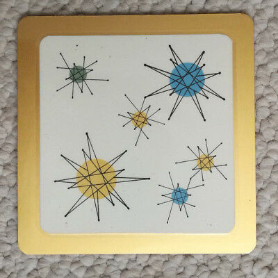Franciscan Starburst Mid Century Atomic Retro Design Coasters