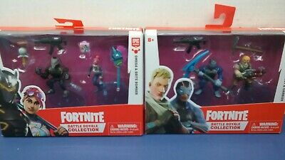 2 Fortnite Battle Royale Collection Packs 4 - 2 Action Figures In All